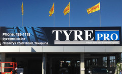 Tyrepro ACM Building Signs