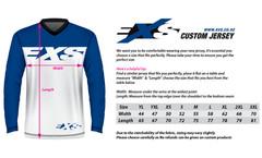EXS Custom Jersey Sizing Chart