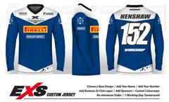 Status Blue White - EXS Race Jersey