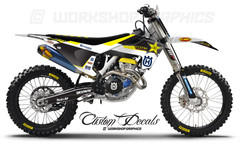 2017 Husq Rockstar Replica Graphics kit