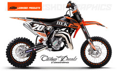 KTM 65 Hek Clothing - Graphics Kit