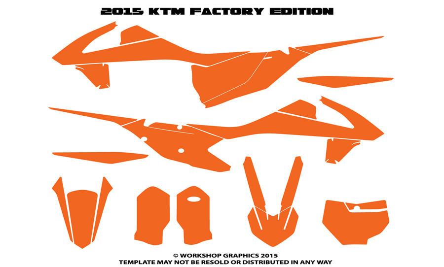 2016 Ktm 450 Template Workshop Graphics