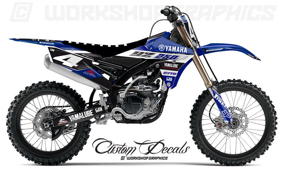 yzf 250 450 factory blue graphics kit workshop graphics