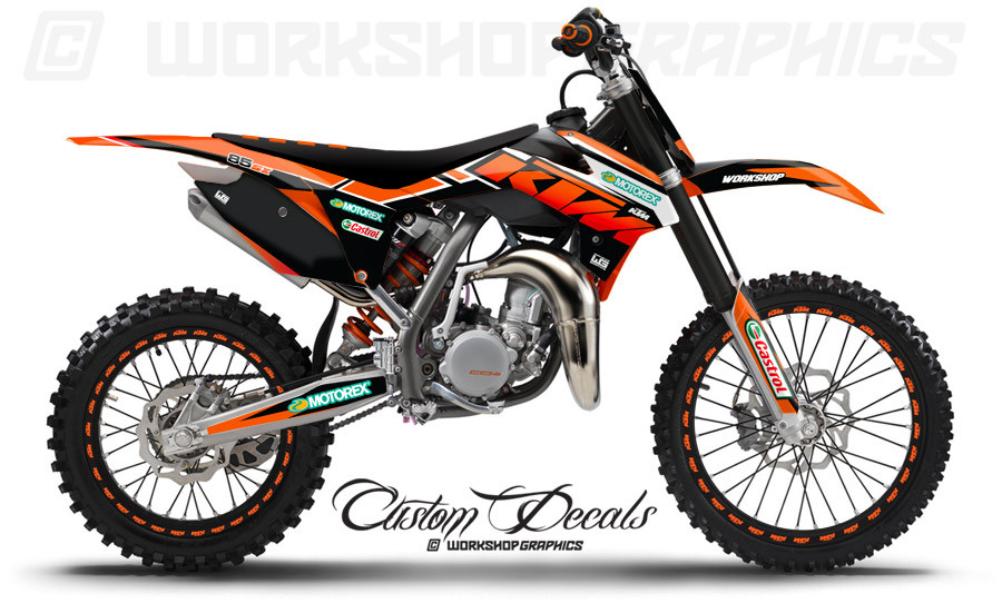 ktm 85 sx moto graphics kit workshop graphics. Black Bedroom Furniture Sets. Home Design Ideas