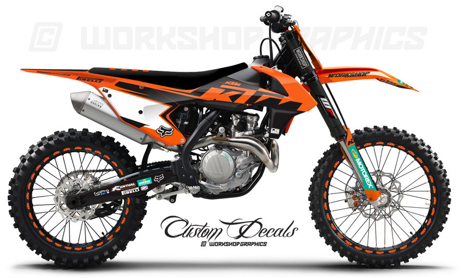 2018 ktm 250f. unique 2018 2017 ktm era orange  graphics kit on 2018 ktm 250f a