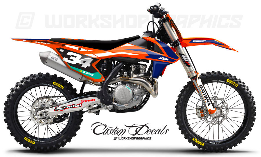 KTM 125 450 Licensed MX Graphics