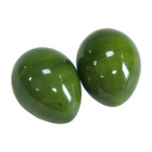 Green Wooden Egg Shakers - Pair