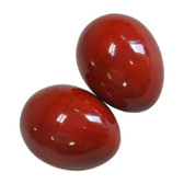 Red Wooden Egg Shakers - Pair