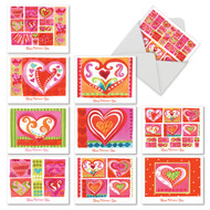 M6725VD - Art Hearts: Mixed Set of 10 Cards