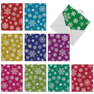 Snowflakes Blank or Season's Greetings Holiday Cards
