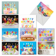 M4193BD - Birthday Blowouts: Mixed Set of 10 Cards