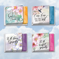 MQ4255SM - Floral Condolences: Square-Top Assorted Set of 12 Cards