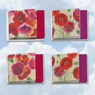 MQ4548TY - Painted Poppies: Square-Top Assorted Set of 10 Cards