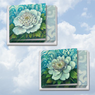 MQ4594TY - Blue Magnolia: Square-Top Mixed Set of 10 Cards
