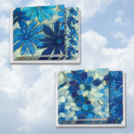 MQ4607TY - Blue Blooms: Square-Top Assorted Set of 10 Cards