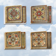 MQ4609OC - Ornate Tiles: Square-Top Assorted Set of 12 Cards