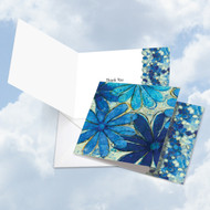 CQ4607BTY - Blue Blooms: Square-Top Note Card