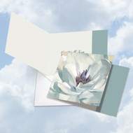 CQ4611AGW - Peaceful Petals: Square-Top Printed Card