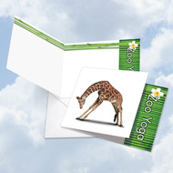 CQ6547BOC - Zoo Yoga - Giraffe: Square-Top Printed Card