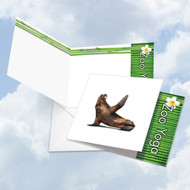CQ6547COC - Zoo Yoga - Seal: Square-Top Greeting Card
