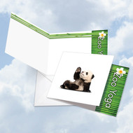 CQ6547DOC - Zoo Yoga - Panda: Square-Top Note Card
