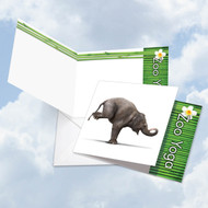 CQ6547EOC - Zoo Yoga - Elephant: Square-Top Paper Card