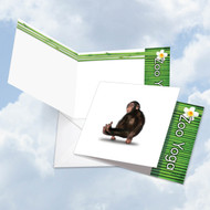 CQ6547GOC - Zoo Yoga - Chimpanzee: Square-Top Greeting Card