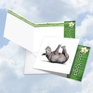 CQ6547HOC - Zoo Yoga - Rhinoceros: Square-Top Note Card