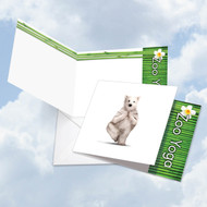 CQ6547JOC - Zoo Yoga - Polar Bear: Square-Top Printed Card