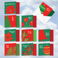 MQ4973SG - Bold Holidays: Square-Top Mixed Set of 10 Cards