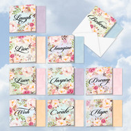 ACQ4969OC - In A Word: Square-Top Mixed Set of 10 Cards