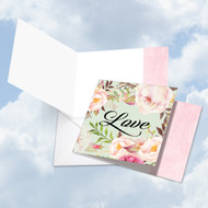 CQ4969COC - In A Word - Love: Square-Top Note Card
