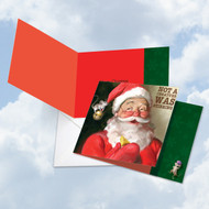 CQ4943AXS - Santa Mouse Stirring: Square-Top Printed Card