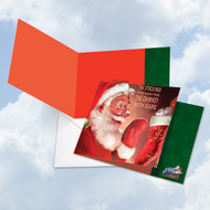 CQ4943CXS - Santa Mouse Stockings: Square-Top Note Card