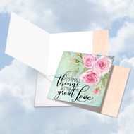 CQ4979BFR - Words Of Encouragement Great Love: Square-Top Paper Card