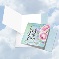 CQ4979JFR - Words Of Encouragement Yes You Can: Square-Top Paper Card