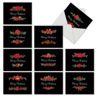 M4175XS - Elegant Flowers: Assorted Set of 10 Cards