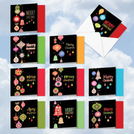 MQ4177XS - Retro Groovy Greetings: Square-Top Assorted Set of 10 Cards