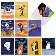 M4181HW - Halloween Whimsy: Assorted Set of 10 Cards