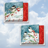 MQ4612HH - Season's Tweets: Square-Top Assorted Set of 12 Cards