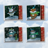 MQ4632XS - Woodland Christmas: Square-Top Assorted Set of 12 Cards