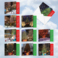 MQ4958XS - Nychristmas: Square-Top Assorted Set of 10 Cards