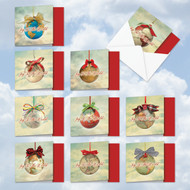 MQ5023XS - Joy To The Globe: Square-Top Assorted Set of 10 Cards
