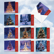 MQ5033XS - Lit For Christmas: Square-Top Mixed Set of 10 Cards