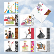 MQ5067OC - Write In Style: Square-Top Assorted Set of 10 Cards