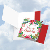 CQ4176GXS - Wreath Greetings: Square-Top Paper Card