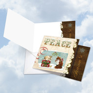 CQ4626DXS - Deer And Cheer - Peace: Square-Top Printed Card