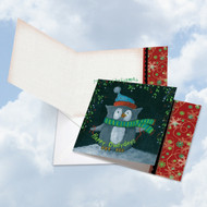 CQ4632DXS - Woodland Christmas - Owl: Square-Top Paper Card