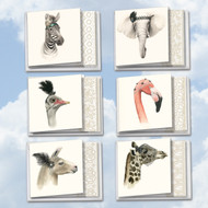 ACQ5025OC - Wildlife Glamour: Square-Top Mixed Set of 12 Cards