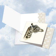 CQ5025FOC - Wildlife Glamour Giraffe: Square-Top Greeting Card